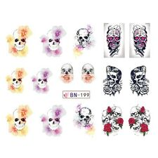 Nail Art Sticker Water Decals Transfer Stickers Halloween Skulls (DB199)