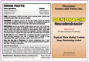 Dendracin Lotion 4oz bottle