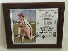 "Mike Schmidt Phillies Autograph 1995 Framed Plaque Hall of Famer w/COA 13.5""x11"""