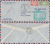 US 1941 PAN AM FIRST FLIGHT SAN FRANCISCO TO SINGAPORE FLOWN COVER