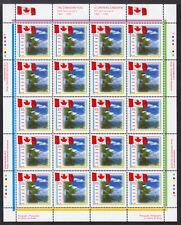 CANADA #1546 (43c) SE-TENANT PANE/20, 1995 CANADIAN FLAG, MNH