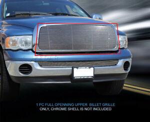 Fedar Fits 2002-2005 Dodge RAM Polished Main Upper Billet Grille Insert