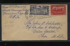 Dominican  Republic  1929  airmail cover  to  US   MS0313