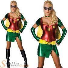 Ladies Sexy Robin Superhero Fancy Dress Costume Halloween Batman Film Outfit