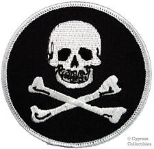 Jolly Roger Embroidered Patch Pirate Skull Crossbones Iron-on Poison Emblem 813606012298