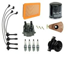 For Geo Prizm 93-97 L4 1.8L Tune Up Kit Filters Cap Rotor Spark Plugs Wire