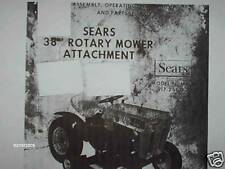 917.250122- Sears 38'' Rotary Mower- Owners Manual on CD