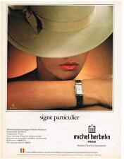 PUBLICITE ADVERTISING  1982  MICHEL HERBELIN  montres
