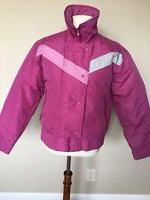 VTG Medium Fall Line Down SKIWEAR SKI COAT JACKET 80'S SNOW BOMBER WOMENS Pink