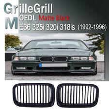 Matte Black Hood Kidney Grill Grille For BMW E36 M3 325i 320i 318is 1992-1996