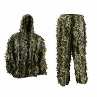Kids Outdoor 3D Leaves Camo Clothing Jungle Woodland Hunting Leafy Ghillie Suits
