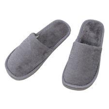 Men Gray Fleeces House Soft Winter Warm Slippers UK 8.5 for Feet Length 27 cm T8