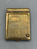 Vintage Sliding Miniature Brass Pocket Purse Slide Address Book N401