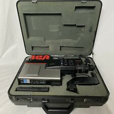 Vintage RCA CLR200 VHS Camcorder Video Camera W/ Hard Case Powers On Parts Only