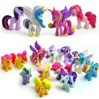12Pcs My Little Pony Princess Rainbow PVC Action Figure Cake Topper Toy Dolls