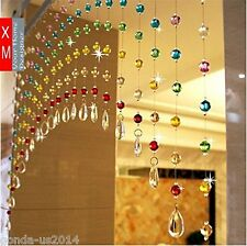 Discount4product 20 string crystal bead door window curtain for home decoration