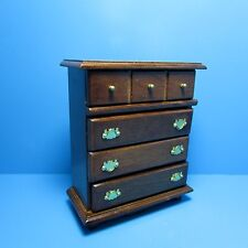 Dollhouse Miniature Bedroom Dresser ~ Wood in Walnut ~ T6842