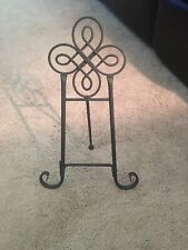 "15 "" Black Iron Plate, Picture and Book Display Stand Home and Kitchen  Decor"