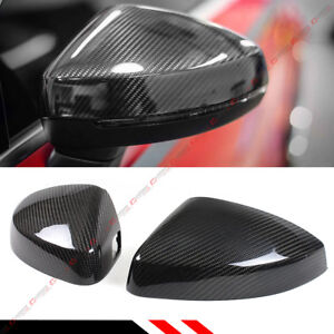 CARBON FIBER REPLACEMENT MIRROR COVERS FOR 14-19 AUDI A3 S3 RS3 WITH LANE ASSIST