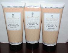 Lot of 3 Deep Steep ARGAN OIL Body Scrub Warm Vanilla Coconut 6 oz Each **