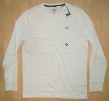 HOLLISTER California Herren Rundhals T-Shirt Weiß Gr. M (Konf. 48/50) NEU OVP