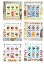Worldwide: Lady Di; Lot 8 different souvenirs sheet, Royal Wedding 1981, WO116