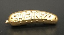 Vintage Heinz Pickle Pin Gold Tone