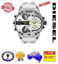 DIESEL DZ7401 MR DADDY 2.0 White Multiple Time Zone Chronograph Mens Watch
