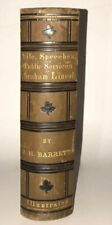 LEATHER; ABRAHAM LINCOLN! (FIRST EDITION/FIRST PRINTING 1865!) CIVIL WAR Gift