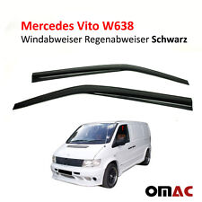 Windabweiser Regenabweiser 2 tlg Schwarz für Mercedes Vito W638
