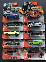 10x Matchbox Neuheiten 2020: Mercedes W123 T, LECV TX, Jeepster, Cycle -1/60 OVP