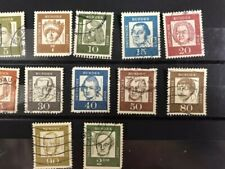 Germany: Set of 12 Diff. Sc# 824-25, 827-33, 836-37, 839 Used Lot #9902