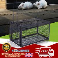 2pcs Metal Mouse Trap Humane Live Catcher Rat Vermin Rodent Cage Traps Pest