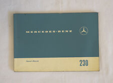 Mercedes 230 owners manual heckflosse English