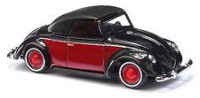 Busch 46717 HO (1/87): Volkswagen - Hebmüller Cabrio gesloten, zwart/rood