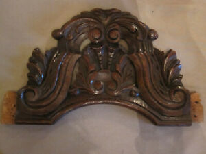 architectural salvage pediment  french antiques oak carving