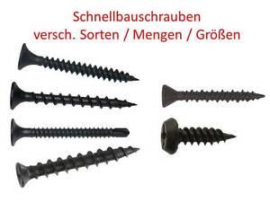 Schnellbauschrauben Trockenbau Gipskarton Fein/Grob/Gips/Fräsrippen/Bohrspitze