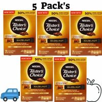 5 Pack's Nescafé, Taster's Choice, Instant Coffee Beverage, Hazelnut, 16 Packets