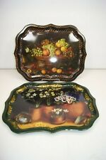 "Vintage Lot of 2 Ian Logan Toleware 22"" Trays Mimi Roberts & Lucy Neil - London"