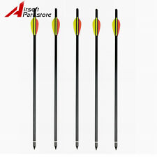 "5pcs Aluminum Arrows 17"" Bolts  150 180 lb lbs for Crossbow Bow Hunting Target"