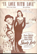 """SHADY LADY Sheet Music """"In Love With Love"""" Ginny Simms Robert Paige Chas Coburn"""