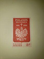 U.S. Scott 1313- Poland's Millennium, Eagle and Cross- MNH 5c 1966 Postage Stamp