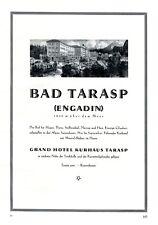 Grand Hotel Bad Tarasp Engadin XL Reklame 1929 Schweiz Werbung Tennis +