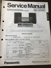 Original Panasonic Technics Model SE-2510C Stereo Turntable Service Manual