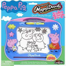 Peppa Pig Mini Magna Doodle Draw Stamp Erase Travel Size Toy Playset