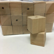 15 x 2cm RAW Wood Cube Beads - NATURAL/macrame/weave/craft/square/large hole/DIY