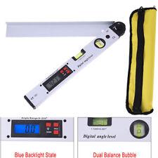 Digitaler LCD Winkelmesser mit Wasserwaage LCD-Display 400 mm Gradmesser messen