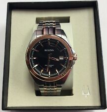 BULOVA Men's Precisionist Two-Tone Rose Gold Stainless Steel UHF WATCH 98B268