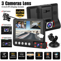 IR Touch Screen 1080P Car DVR Lens Dash Cam Front Rear Recorder Camera G-sensor