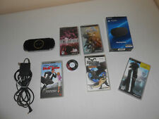 Sony Playstation PSP 3001 Black Portable Handheld System w/ adapter bundle games